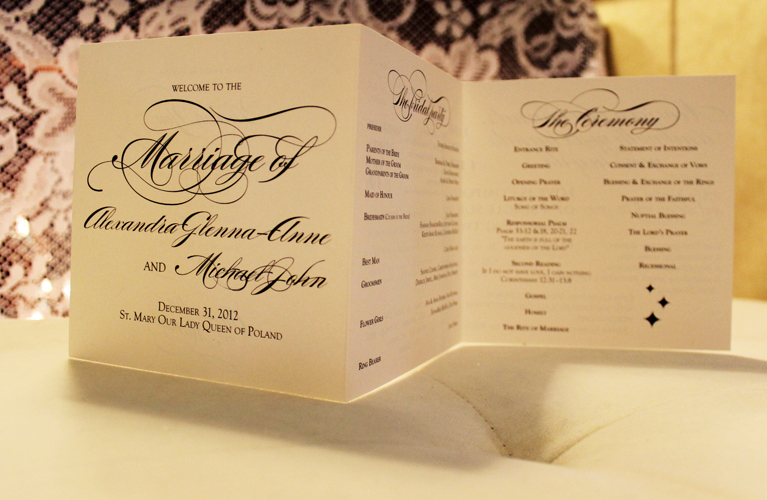 Catholic Wedding Ceremony Programs